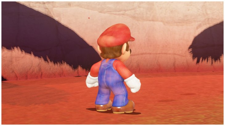 Mario lleno de arena